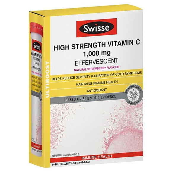Swisse Ultiboost High Strength Vitamin C 1000mg60 Effervescent Tablets