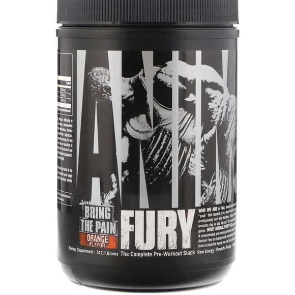 Universal Nutrition, Animal Fury, Orange, 512.1 g