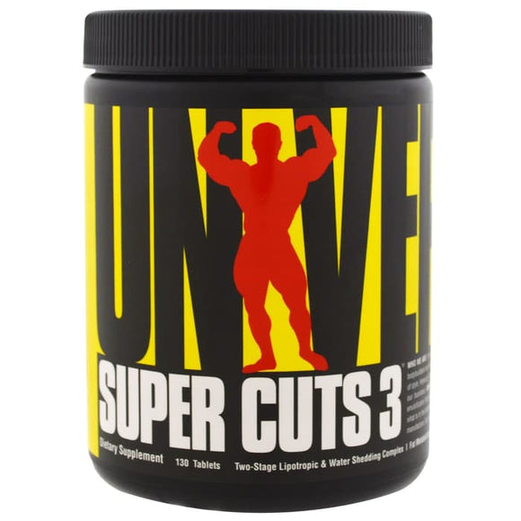 Universal Nutrition,Super Cuts 3,Two-Stage Lipotropic&Diuretic,130Tab