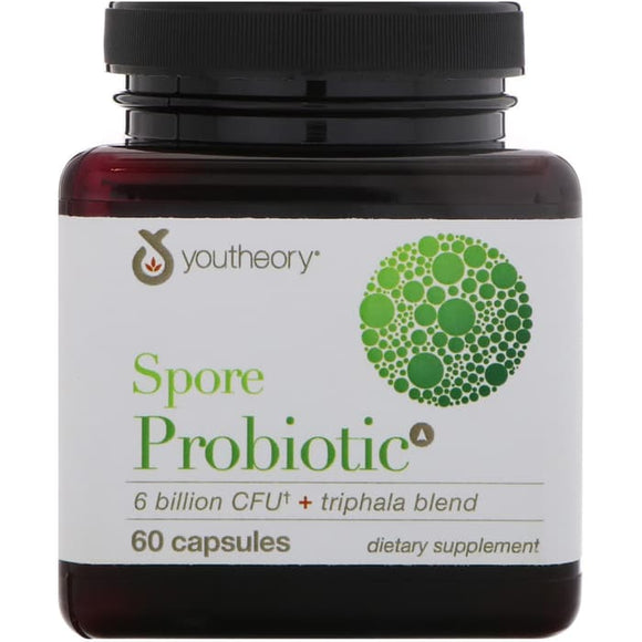 Youtheory, Spore Probiotic, 6 Billion CFU, 60 Capsules