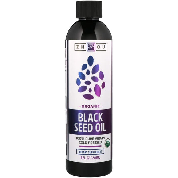 Zhou Nutrition, Organic, 100% Pure Virgin Black Seed Oil, Cold Pressed
