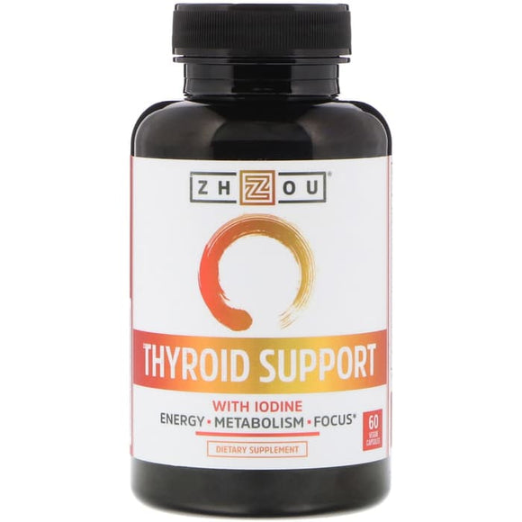 Zhou Nutrition, Thyroid Support with Iodine, 60 Veggie Capsules