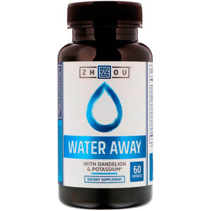 Zhou Nutrition, Water Away with Dandelion & Potassium, 60 Capsules