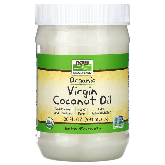 Now Foods, Real Food, Organic Virgin Coconut Oil 591 ml