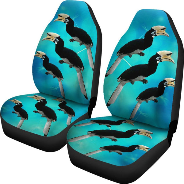African Pied Hornbill Bird Print Car Seat Covers Free