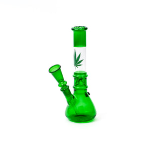 Green Cannabis Leaf Bong (25 cm)