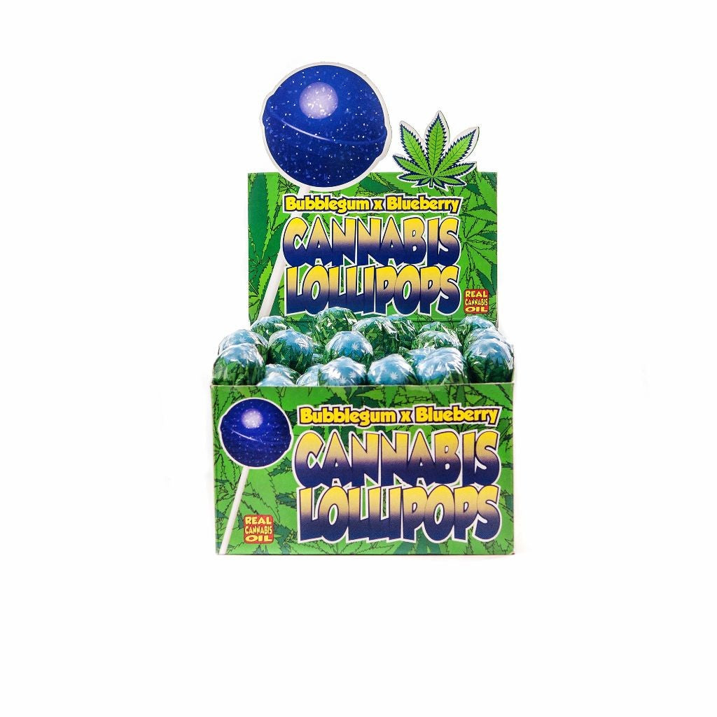 Cannabis lollypop Bubble Gum Blueberry