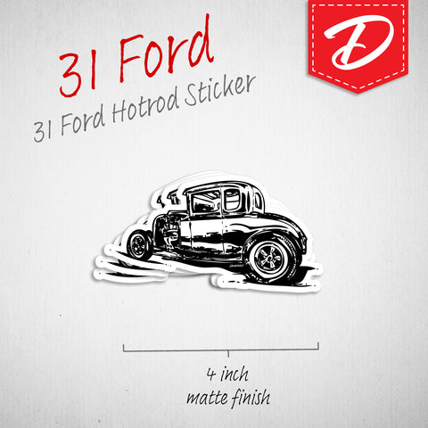 Hotrod 1931 Ford vinyl sticker
