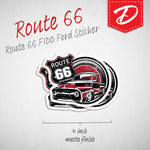 Route 66 F-100 vinyl sticker