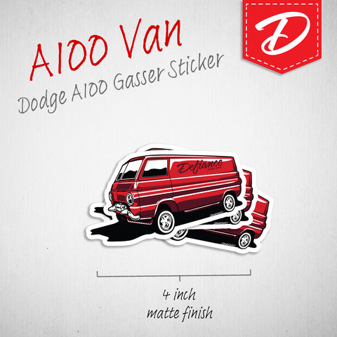 Dodge A100 Van vinyl sticker
