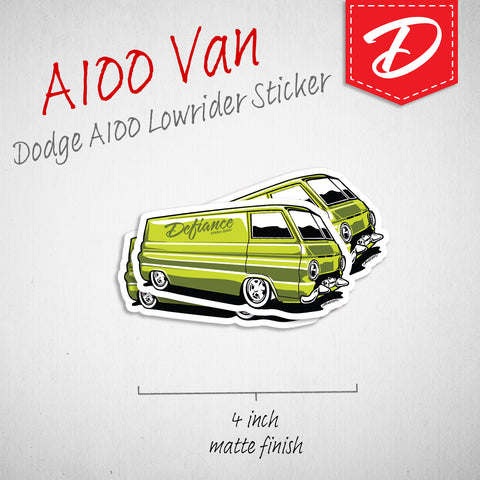 Dodge A100 Van vinyl sticker - green