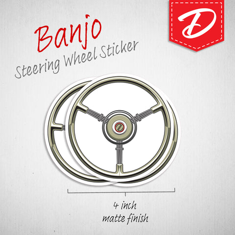 Banjo steering wheel sticker