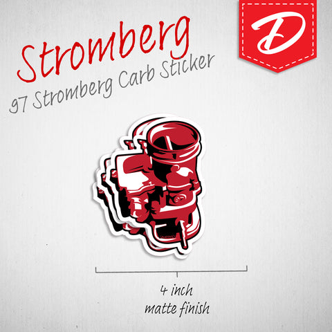 Stromberg Carburator vinyl sticker