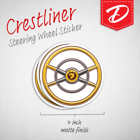 Ford Crestliner steering wheel sticker