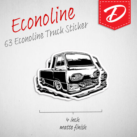 Econoline Pick-Up vinyl sticker