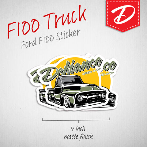 F100 Pick-Up vinyl sticker
