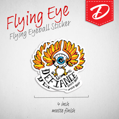 Flying Eyeball vinyl sticker