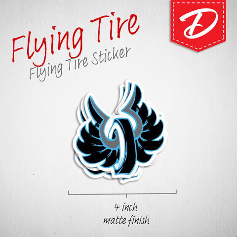 Flying Tire vinyl sticker