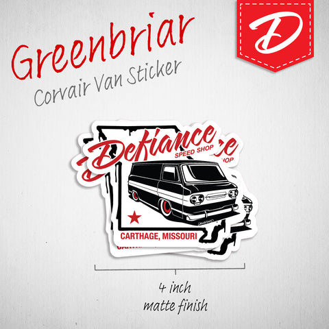 Greenbriar Van vinyl sticker