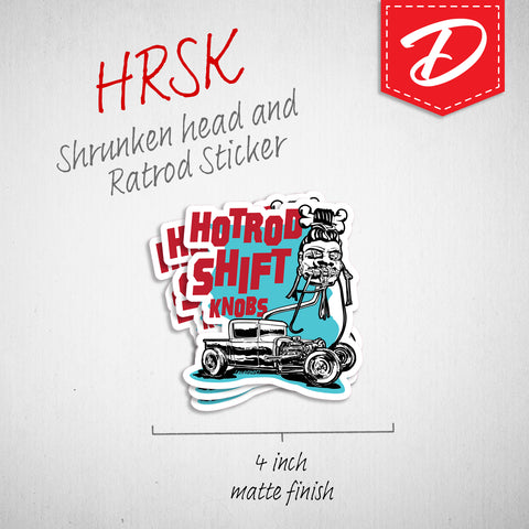 Hotrod Shift Knobs vinyl sticker