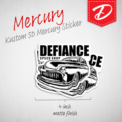 Mercury Leadsled vinyl sticker