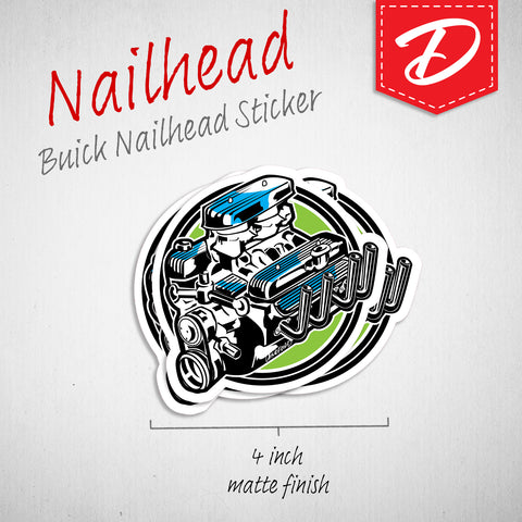 Buick Nailhead Engine vinyl sticker