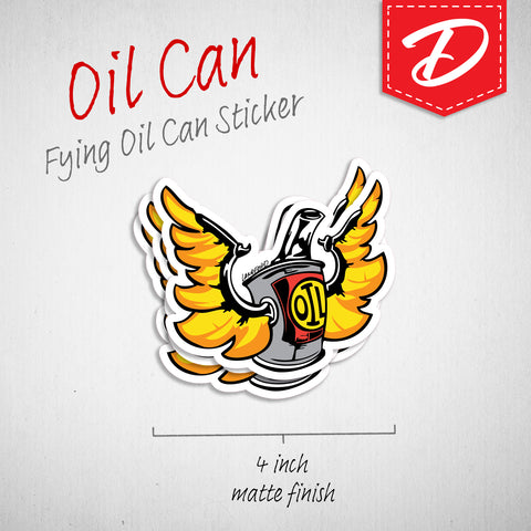 Flying Oilcan vinyl sticker
