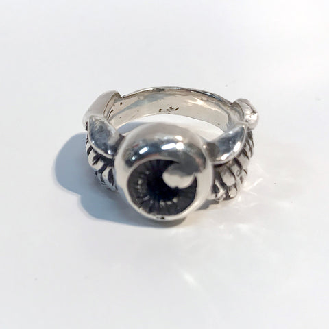 Flying Eye Ring - Silver