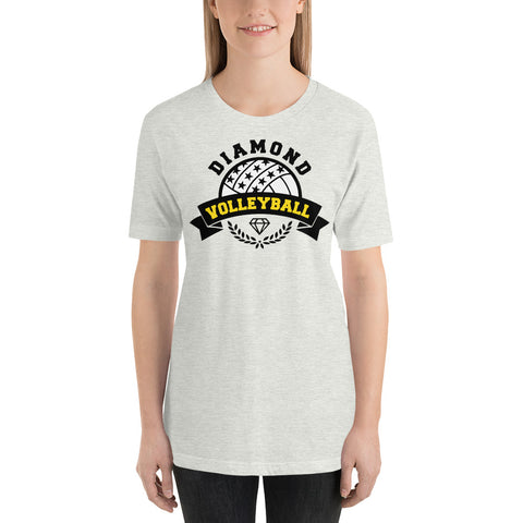 Diamond Volleyball - Short-Sleeve Unisex T-Shirt - 2