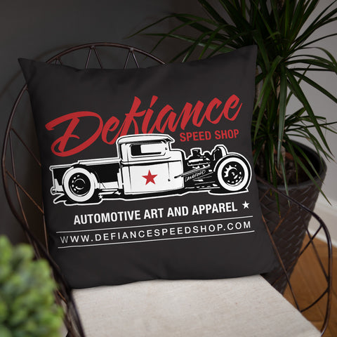 Defiance Speed Shop - Basic Throw Pillow