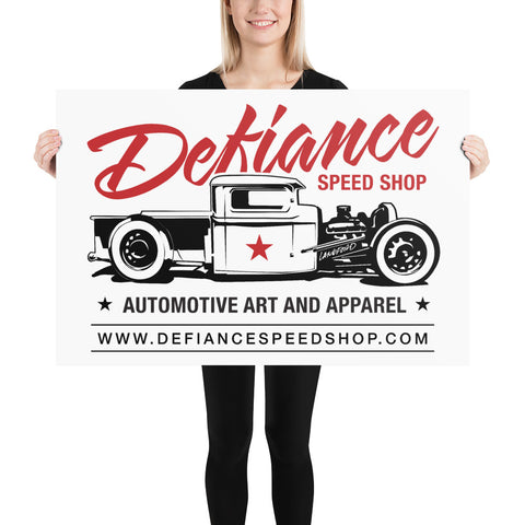Defiance Speed Shop Pick-up Poster