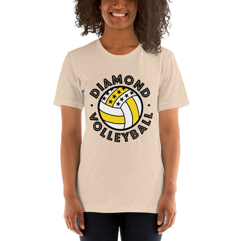 Diamond Volleyball Short-Sleeve Unisex T-Shirt - 1