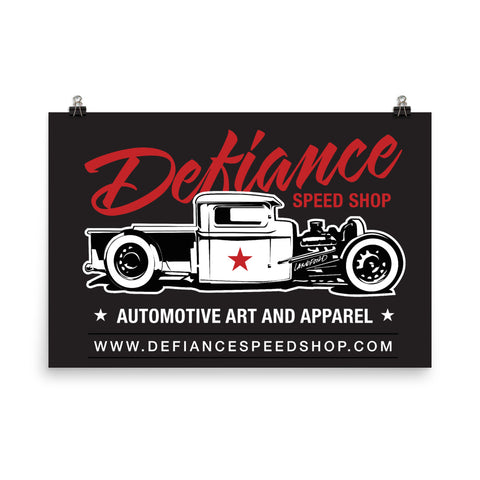Defiance Speed Shop Poster - Black Pick-up