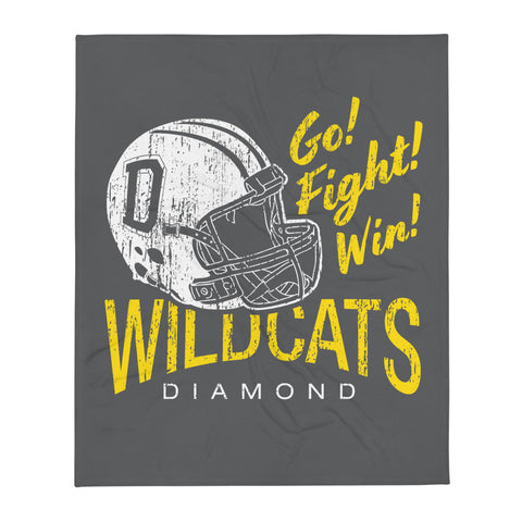 Wildcat Football Throw Blanket