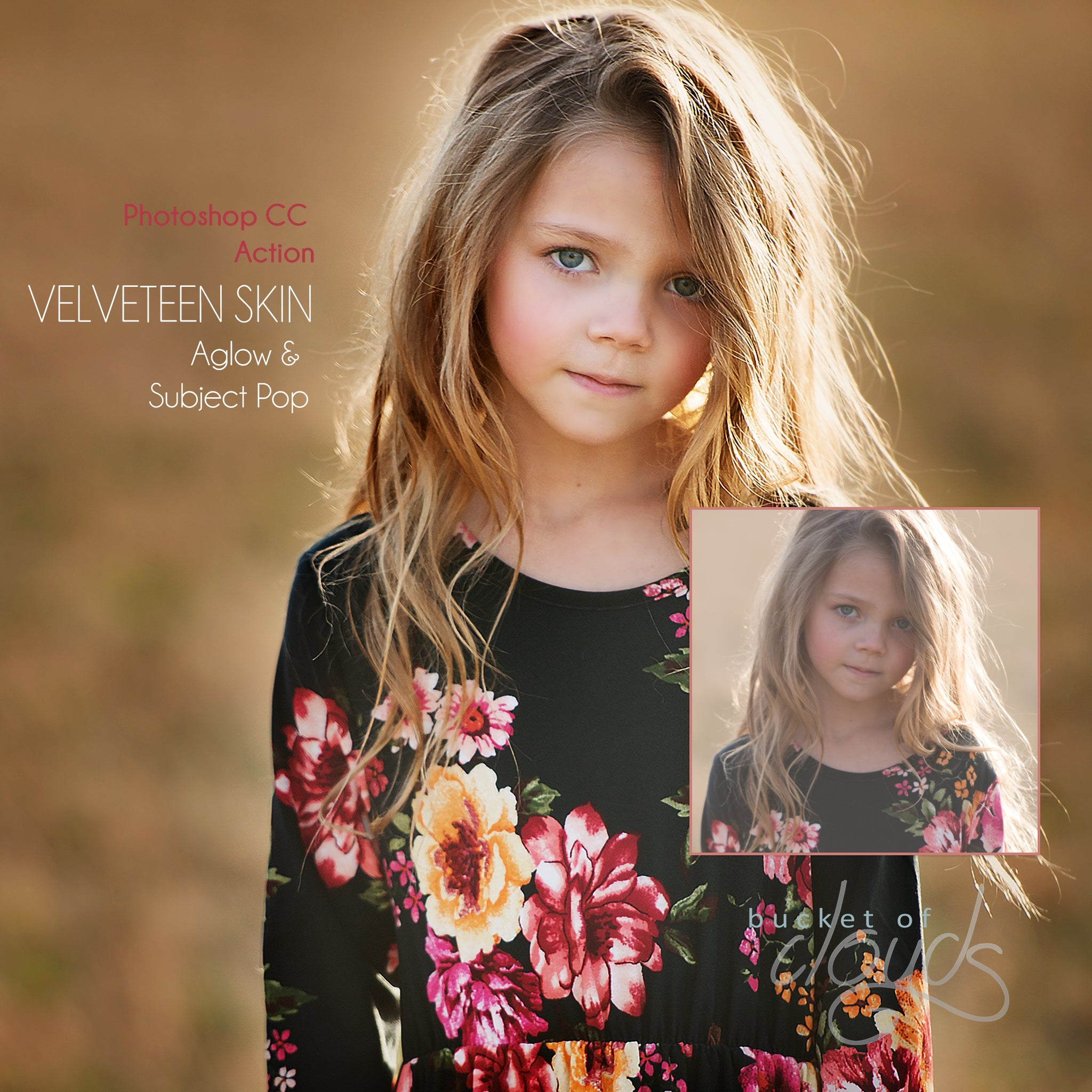 My First Photoshop CC Action is Released! | Velveteen Skin Aglow and Subject Pop