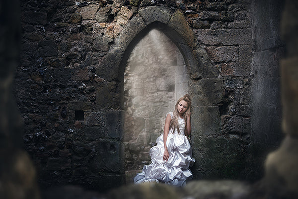 amazing castle and girl photography