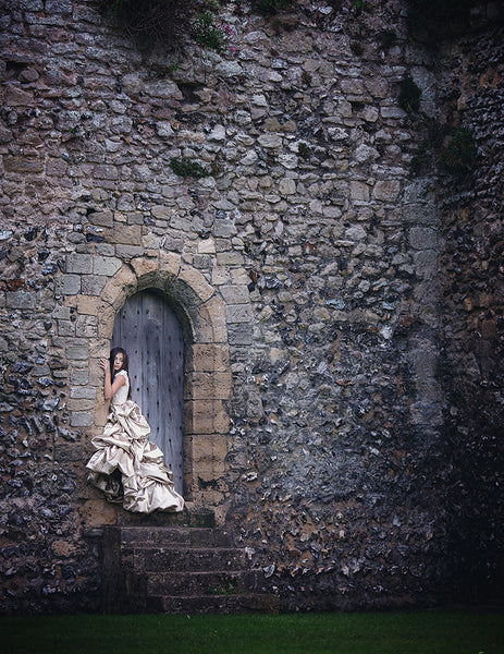 girl in a castle wall