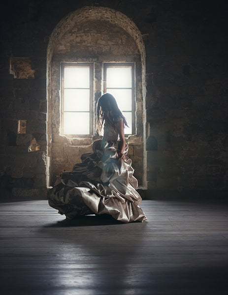 girl dancing in a castle