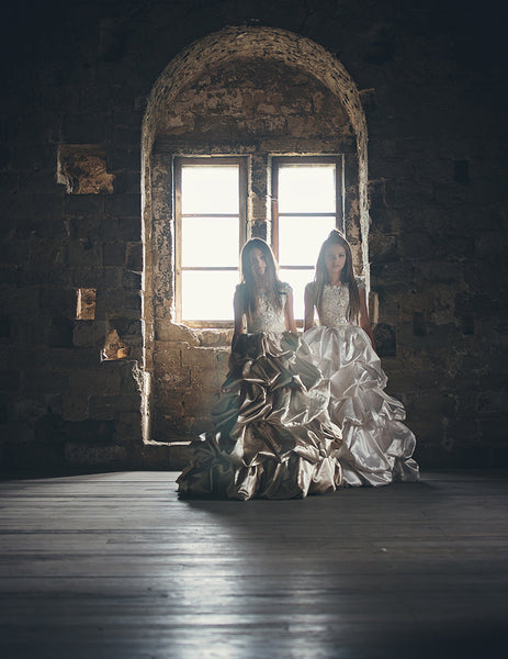 two girls in a castle