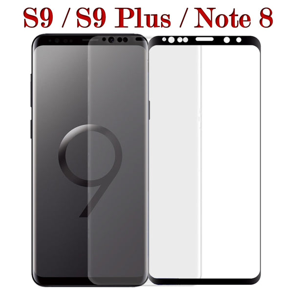 3 D Protective Glass On The For Samsung Galaxy S9 Plus Note 8 3D Tempered Glas s9plus note8 9s S 9 sansung samsun sumsung Film