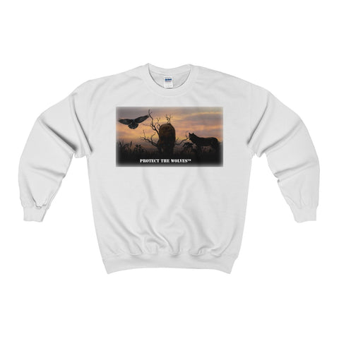 Image of Wolf Lovers Unisex Heavy Blend™ Crewneck Sweatshirt - Protect The Wolves