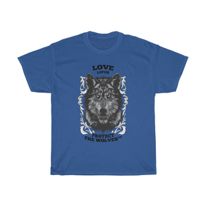 Unisex Love Lupus Wolf T-Shirts by Protect The Wolves- Protecting Your Resources - Protect The Wolves