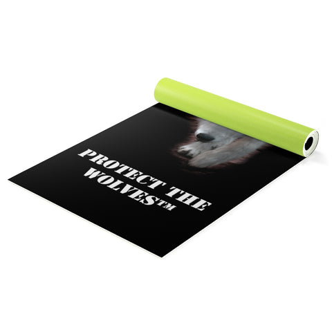 Image of Custom Yoga mat for Wolf Lovers - Protect The Wolves