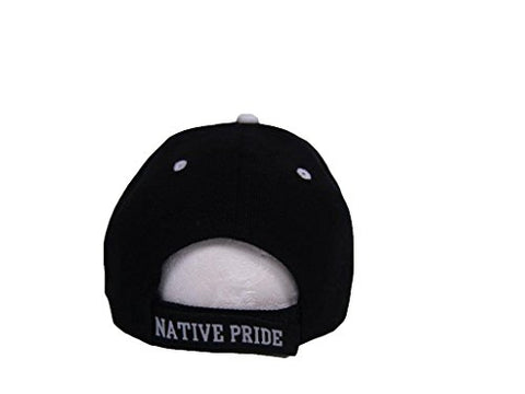 Image of Native  Pride Wolf Dream Catcher Black Ball Cap - Protect The Wolves