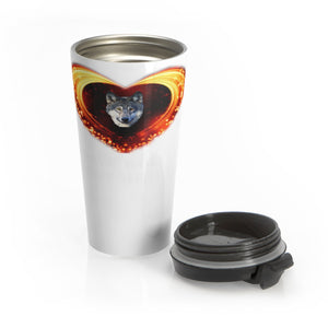 Stainless Steel Travel Mug - Protect The Wolves