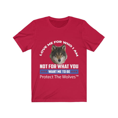 Image of Love Me for Who I AM Wolf TShirt by Protect The Wolves - Protect The Wolves