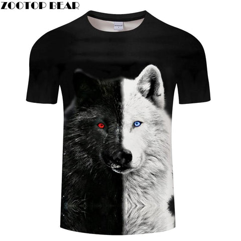 Image of Ying and Yang Wolf  Tshirt Streetwear - Protect The Wolves
