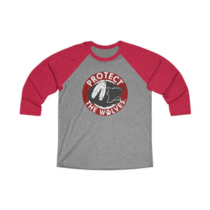 Unisex Tri-Blend 3/4 Raglan Tee - Protect The Wolves