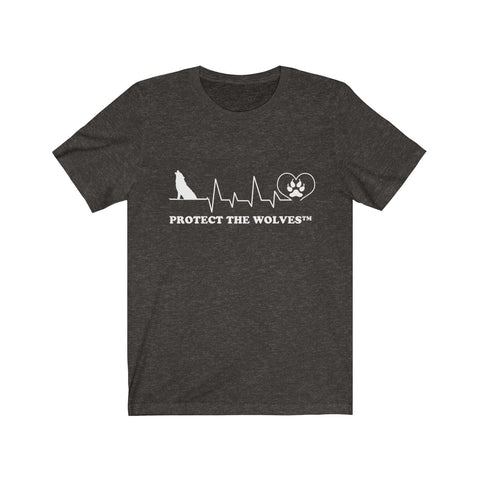 Image of Unisex Our Hearts Beat The Same Wolf T-Shirt by Protect The Wolves - Protect The Wolves