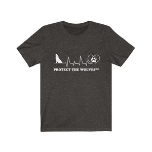 Unisex Our Hearts Beat The Same Wolf T-Shirt by Protect The Wolves - Protect The Wolves
